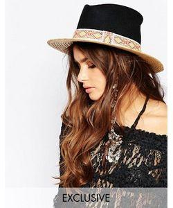 Catarzi | Соломенная Шляпа С Контрастным Черным Верхом