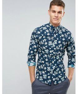 Selected Homme | Приталенная Рубашка С Цветочным Принтом
