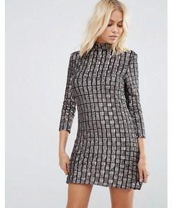 Goldie | Цельнокройное Платье С Отделкой Пайетками Alexa