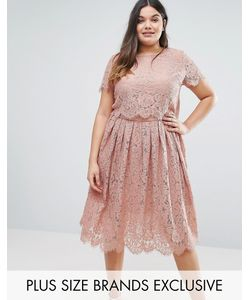 Truly You | Cap Sleeve Double Layer Lace Dress
