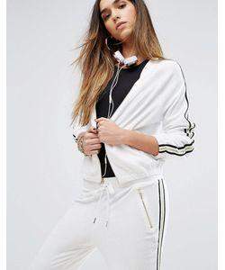 Juicy Couture | Куртка Из Махровой Микрофибры С Полосками Label Trk