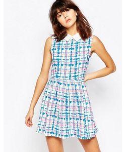 Mela Loves London | Платье С Воротником В Клетку
