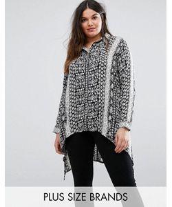 Koko   Рубашка Асимметричной Длины С Принтом Барокко Plus