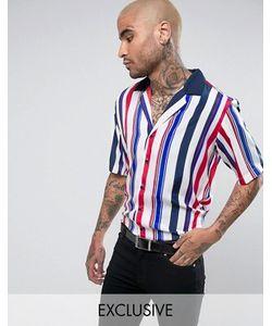 Reclaimed Vintage   Рубашка В Полоску С Отложным Воротником
