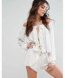 Lovers + Friends | Off-Shoulder Rope Front Top