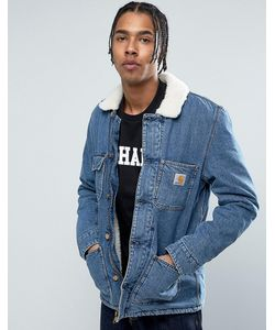 Carhartt WIP   Джинсовая Куртка С Воротником Из Искусственного Меха