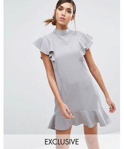 Closet London | Платье С Оборками И Баской