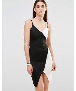Twin Sister | Облегающее Платье На Бретельках С Контрастными Вставками