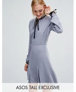 ASOS TALL | Короткое Приталенное Платье С Контрастной Завязкой На Шее