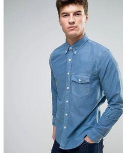 Abercrombie and Fitch | Темно-Синяя Облегающая Оксфордская Рубашка На Пуговицах С Карманом Abercrombie Fitch