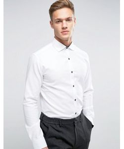 Selected Homme | Зауженная Фактурная Рубашка С Длинными Рукавами