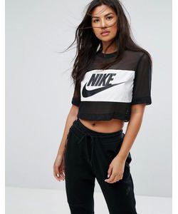 Nike | Сетчатый Укороченный Топ