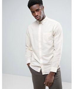 Selected Homme | Узкая Рубашка Из Льняной Смеси С Воротником На Пуговицах