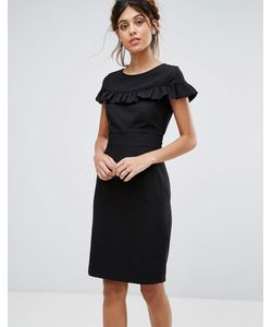 Closet London | Платье Миди С Короткими Рукавами И Оборкой Closet