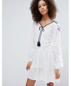 Vero Moda | Короткое Приталенное Платье С Длинными Рукавами И Кисточками