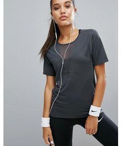 Nike | Сетчатый Топ С Треугольной Вставкой Running Zonal
