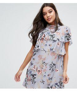 MISSGUIDED | Платье С Цветочным Принтом И Оборками Эксклюзивно Для