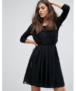 Pepe Jeans London | Сетчатое Платье С Запахом