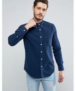 Abercrombie and Fitch | Темно-Синяя Оксфордская Рубашка Классического Кроя Classic