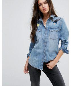 Diesel | Джинсовая Рубашка С Вышивкой