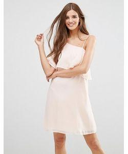 Lavand. | Светло-Розовое Платье С Рукавомбабочка Lavand