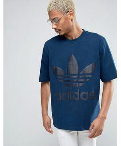 adidas Originals | Свободная Синяя Футболка Ac Bk7173