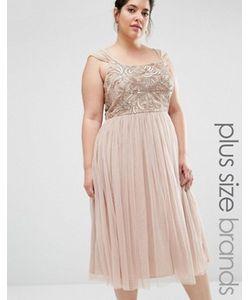 Lovedrobe Luxe | Платье Мини С Юбкой Из Тюля И Декоративной Отделкой