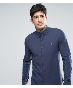 Farah | Темно-Синяя Трикотажная Рубашка Из Пике