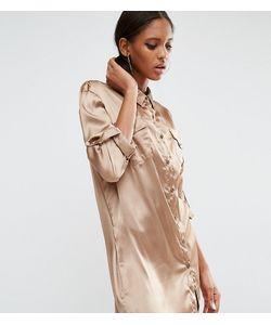 Daisy Street Tall   Свободное Платье-Рубашка С Карманом В Стиле Пэтчворк