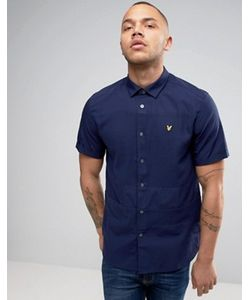 Lyle&Scott | Lyle Scott Pique Shirt Short Sleeve Buttondown Regular Fit Eagle