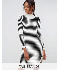 Vero Moda Tall | Платье-Джемпер В Полоску С Закругленным Низом