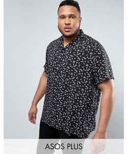 Asos | Вискозная Рубашка Классического Кроя С Принтом Plus