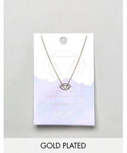 Orelia | Позолоченное Ожерелье С Подвеской Третий Глаз