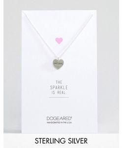 Dogeared | Серебряное Ожерелье С Подвеской-Сердцем С Гравировкой Unicorns