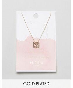 Orelia | Позолоченное Ожерелье Розовая Чакра