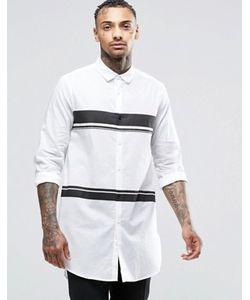 Asos | Удлиненная Рубашка С Полосками