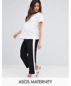 ASOS Maternity | Wide Leg Stripe Trouser