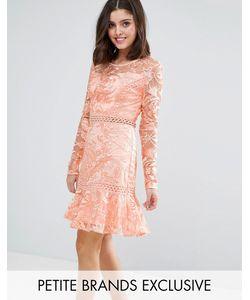 True Decadence Petite | Платье Мини С Эффектом Металлик И Многослойными Оборками