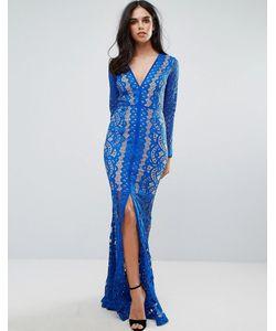 FOREVER UNIQUE | Кружевное Платье Макси С Глубоким Вырезом