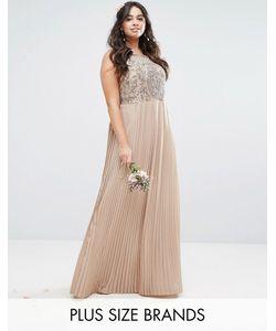 Lovedrobe Luxe | Платье Макси С Декорированным Лифом И Плиссированной Юбкой