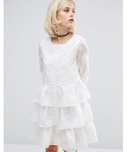 LOST INK | Платье С Выжженным Цветочным Принтом И Оборками
