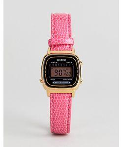 Casio | Цифровые Часы С Розовым Кожаным Ремешком La670wegl-4aef
