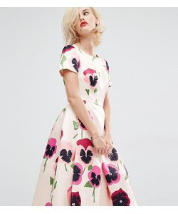 Horrockses   Атласное Платье Для Выпускного С Ярким Цветочным Принтом Iris