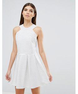 d.Ra   Короткое Приталенное Платье В Полоску Rosalie