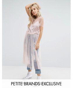 Glamorous Petite | Прозрачное Сетчатое Платье Миди