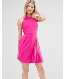 Adelyn Rae | Короткое Приталенное Платье С Решеткой Из Лямок На Спине