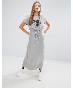 STYLE NANDA | Платье Миди С Рюшами Stylenanda