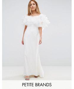 Jarlo Petite | Платье Макси С Оборками Из Органзы