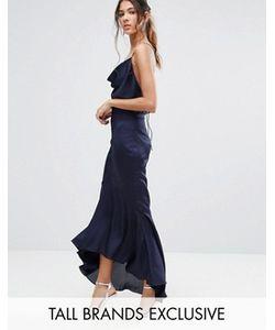 Jarlo Tall | Платье Миди С Лямками И Асимметричным Подолом