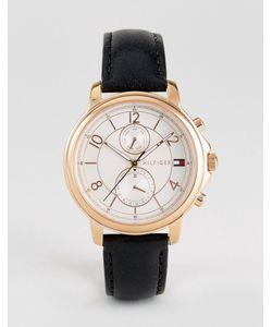 Tommy Hilfiger | Часы С Хронографом И Черным Кожаным Ремешком 1781817